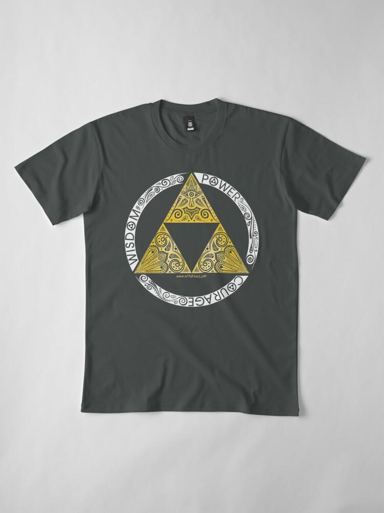 Alternate view of Zelda - Triforce circle Premium T-Shirt