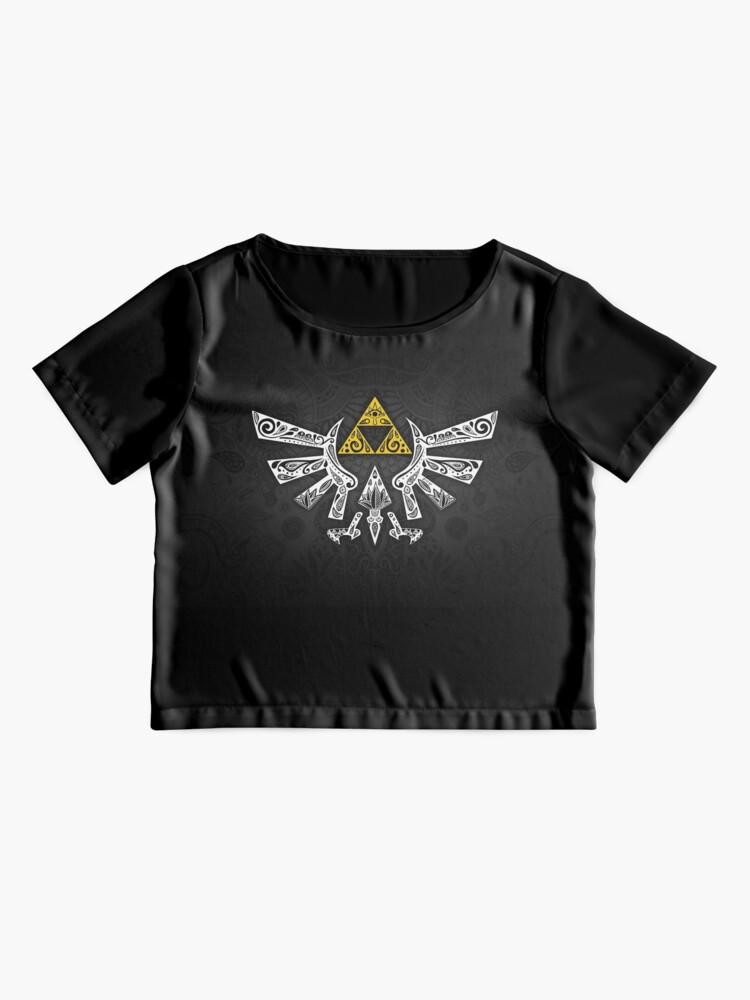 Alternative Ansicht von Zelda - Hyrule Gekritzel Chiffon Top