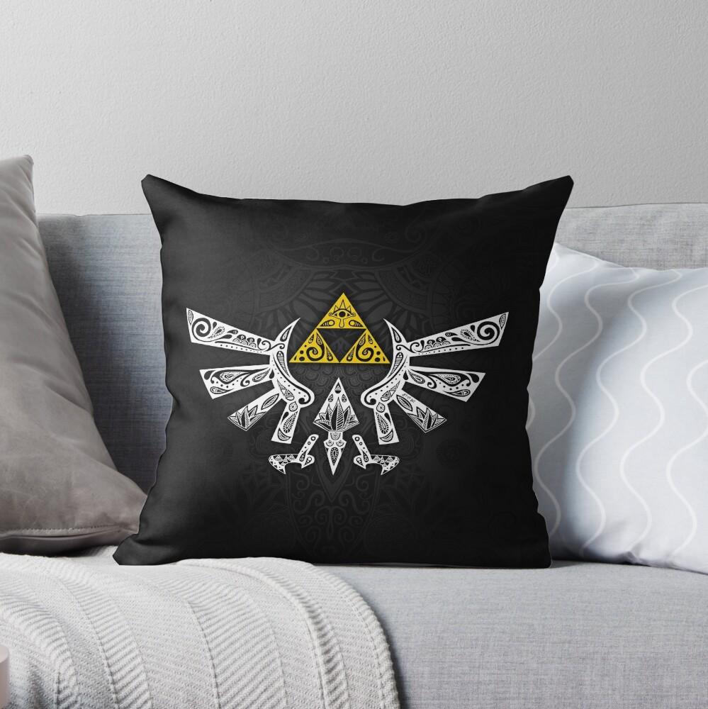 Zelda - Hyrule doodle Throw Pillow