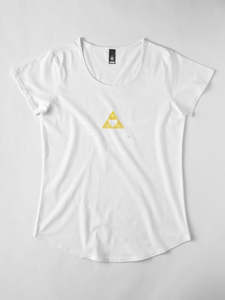 Vista alternativa de Camiseta premium para mujer Zelda - Doodle Hyrule