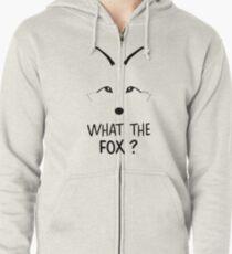 ¿Qué es el zorro? Sudadera con capucha y cremallera