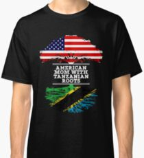 American Mom With Tanzanian Roots - Gift For Tanzanian mother Classic T-Shirt