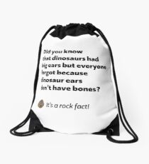 It's a rock fact! #2 Drawstring Bag