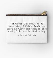 Dwight Schrute Zitat Studio Clutch