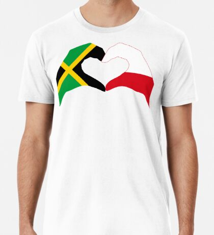 We Heart Jamaica and Poland Patriot Flag Series Premium T-Shirt
