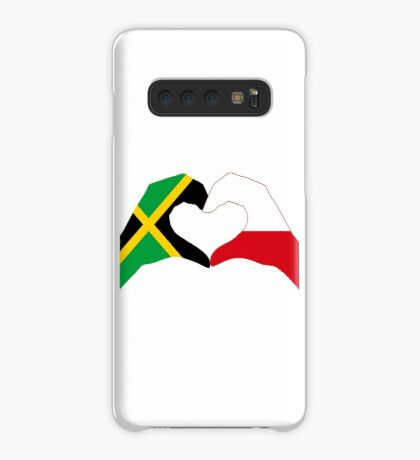 We Heart Jamaica and Poland Patriot Flag Series Case/Skin for Samsung Galaxy