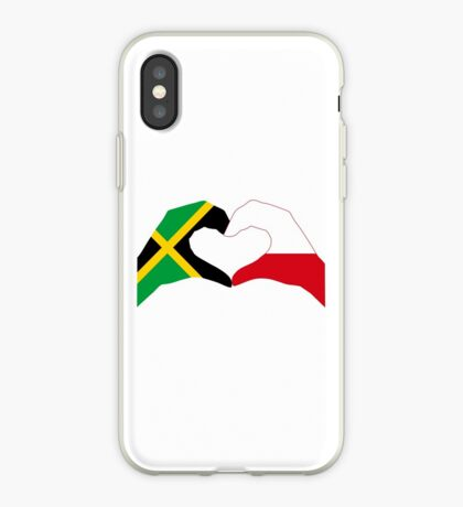 We Heart Jamaica and Poland Patriot Flag Series iPhone Case