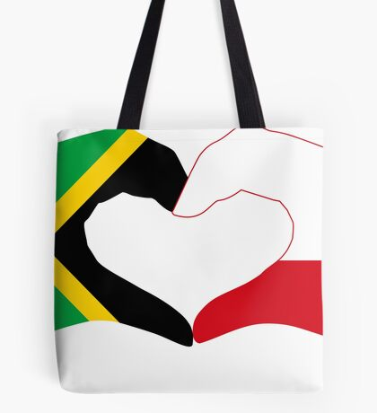 We Heart Jamaica and Poland Patriot Flag Series Tote Bag