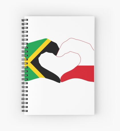 We Heart Jamaica and Poland Patriot Flag Series Spiral Notebook