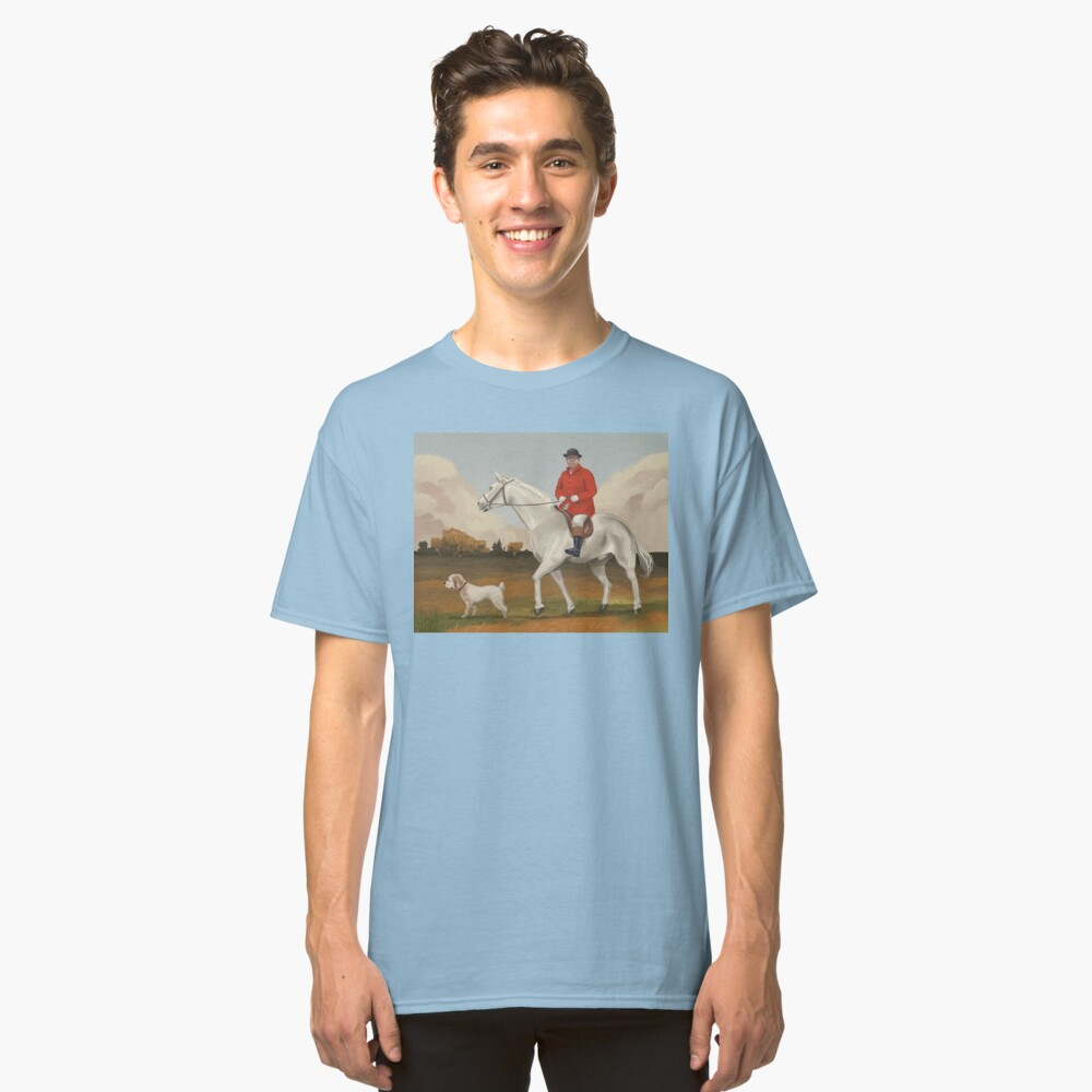 Bob on horse with dog Classic T-Shirt Front