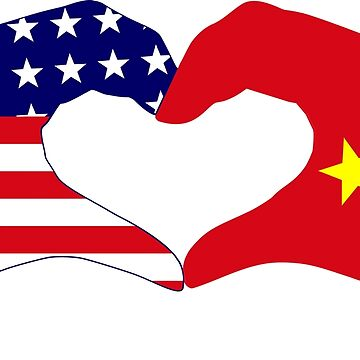 We Heart America and China Patriot Flag Series by carbonfibreme