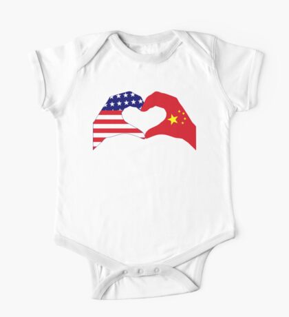 We Heart U.S.A. and China Patriot Flag Series Kids Clothes