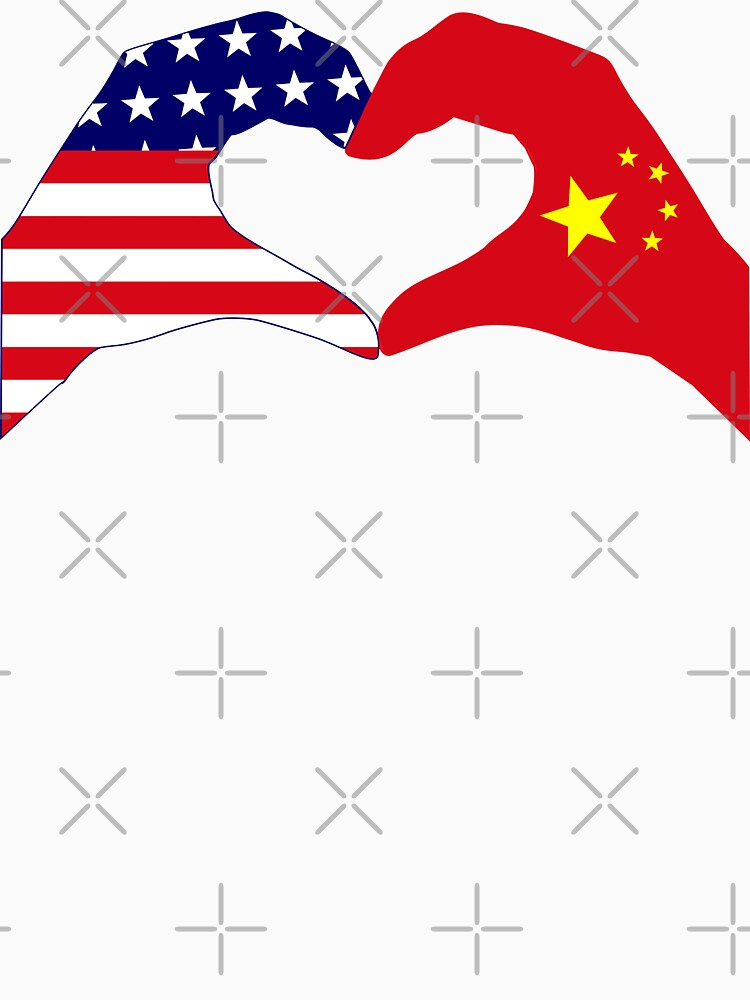 We Heart U.S.A. and China Patriot Flag Series by carbonfibreme