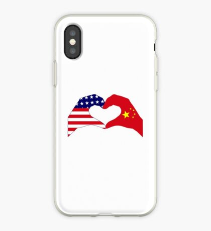 We Heart U.S.A. and China Patriot Flag Series iPhone Case