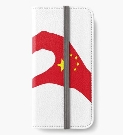 We Heart U.S.A. and China Patriot Flag Series iPhone Wallet
