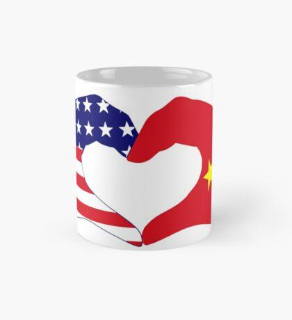 We Heart U.S.A. and China Patriot Flag Series Mug