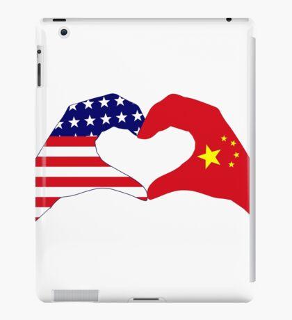 We Heart U.S.A. and China Patriot Flag Series iPad Case/Skin