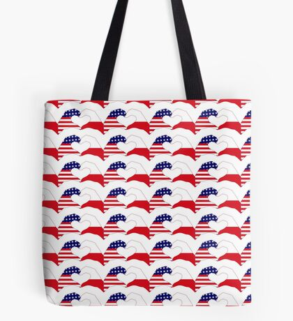 We Heart U.S.A. & Poland Patriot Flag Series Tote Bag