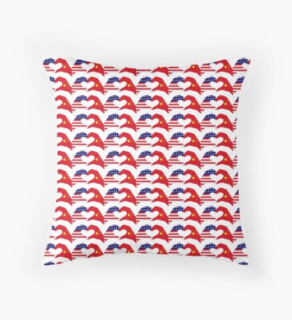 We Heart U.S.A. and China Patriot Flag Series Floor Pillow