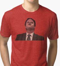 Dwight Schrute - Skin Mask Tri-blend T-Shirt