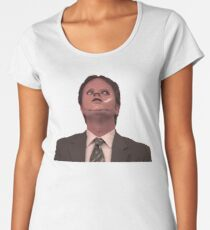 Dwight Schrute - Skin Mask Women's Premium T-Shirt