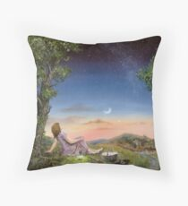 The Astronomy picnic Throw Pillow