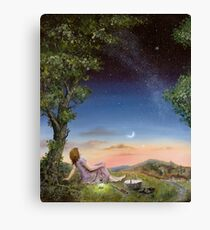 The Astronomy picnic Canvas Print