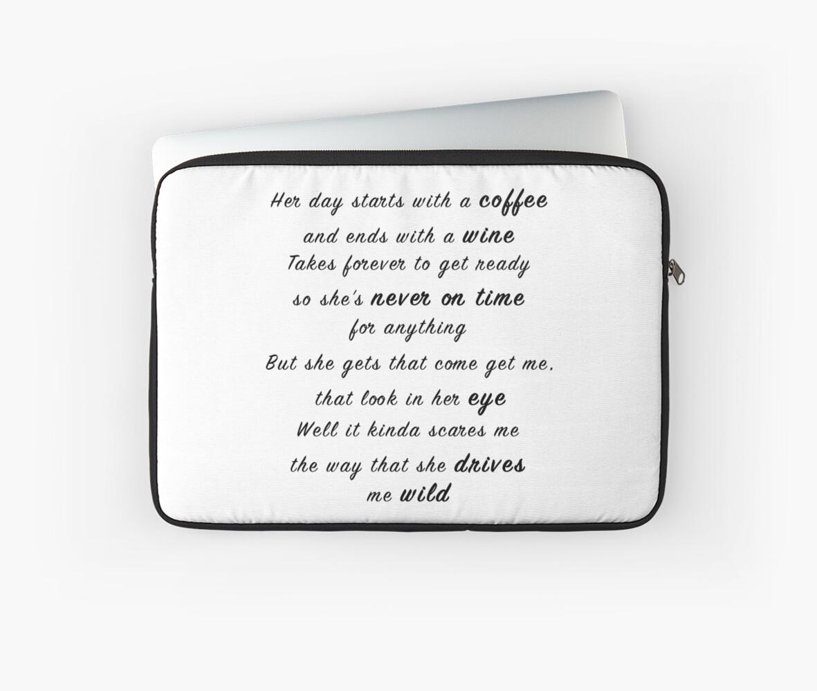 Beautiful Crazy By Luke Combs 1st Verse Lyrics Laptop Sleeve By