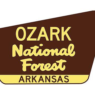Ozark National Forest Arkansas Park Sign by MyHandmadeSigns