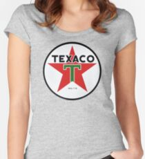 Texaco retro Women's Fitted Scoop T-Shirt