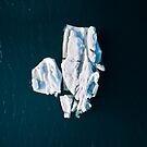 Lone, minimalist Iceberg from above - Landscape Photography by Michael Schauer