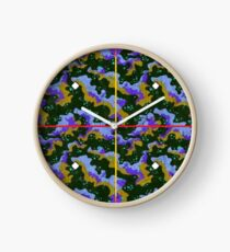 Parboiled Universe in Blue and Purple Clock