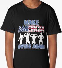 Amercia Swole Again Body Builder Long T-Shirt