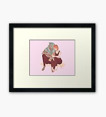 A tender moment Framed Print