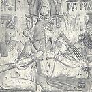 Pharoah Seti Blessed By Two Goddesses by Jedro