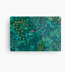 Emerald forest keepers. Fairy woodland creatures. Metal Print