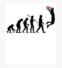 Human Basketball Evolution T Shirt, Original Gift Design Idea Photographic Print