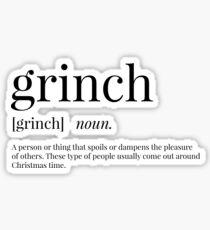 Grinch Definition Sticker
