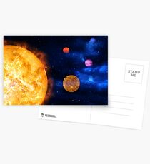 Consumption of Planets by Supernova Postcards