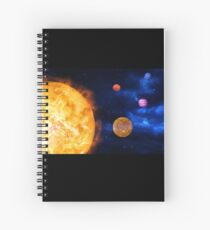 Consumption of Planets by Supernova Spiral Notebook