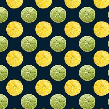 Acuarela limón lima de skinnyginny