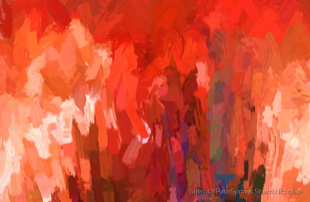 Abstract Peace Walk Of Nations by Sherri Nicholas by SherriOfPalmSprings Sherri Nicholas-