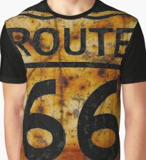 ROUTE 66 SIGN  RUST Graphic T-Shirt