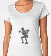 Female weightlifter, deadlift pick, woman weightlifter, weightlifting Women's Premium T-Shirt