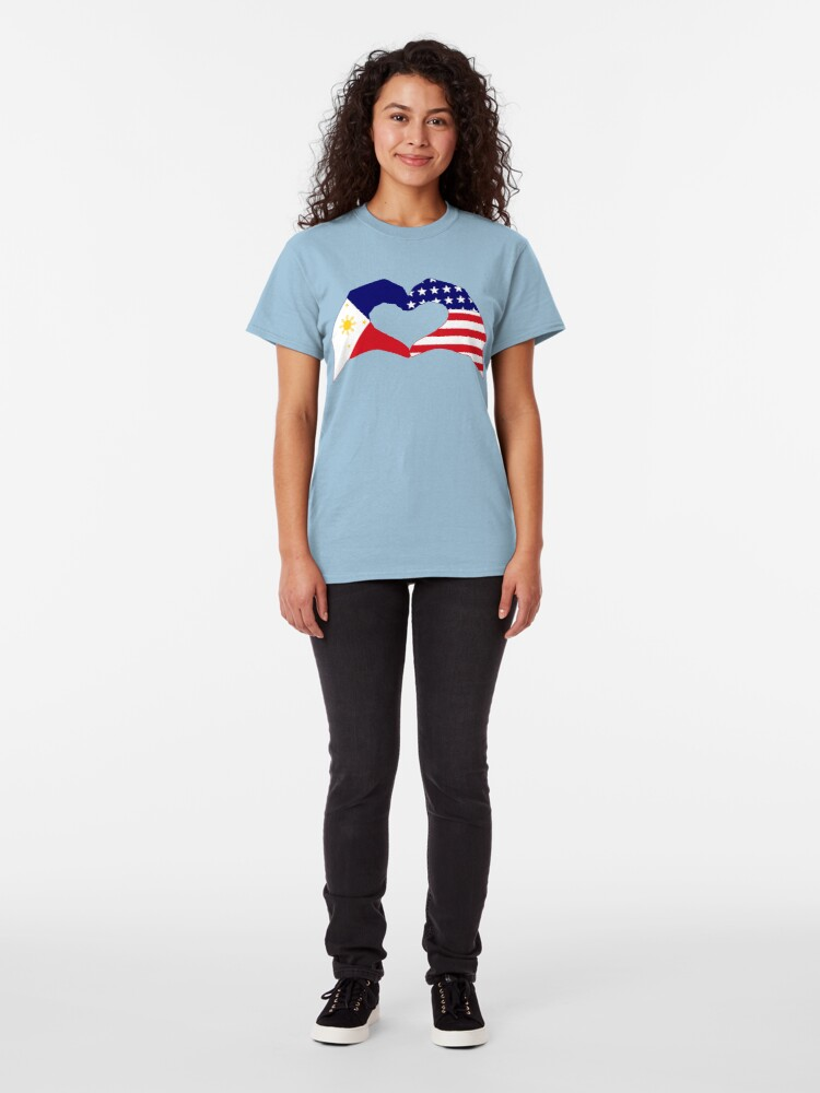 Alternate view of We Heart Philippines & U.S.A. Patriot Flag Series Classic T-Shirt