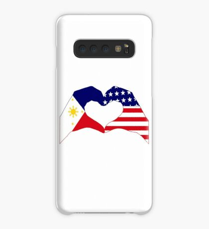 We Heart Philippines & U.S.A. Patriot Flag Series Case/Skin for Samsung Galaxy