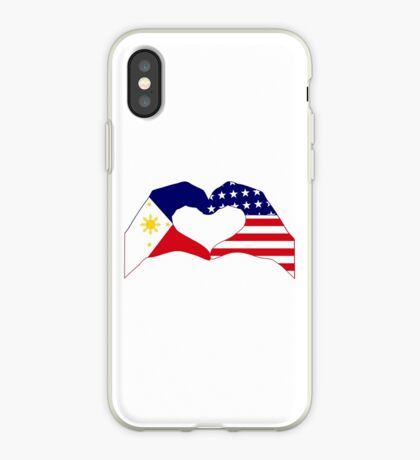 We Heart Philippines & U.S.A. Patriot Flag Series iPhone Case