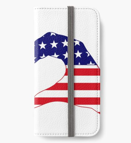 We Heart Philippines & U.S.A. Patriot Flag Series iPhone Wallet