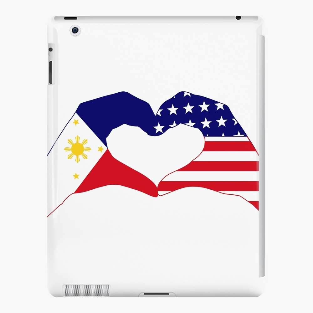 We Heart Philippines & U.S.A. Patriot Flag Series iPad Case & Skin