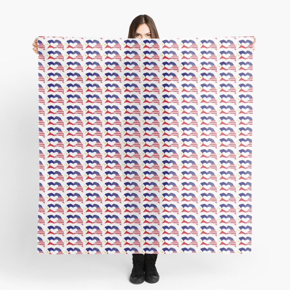 We Heart Philippines & U.S.A. Patriot Flag Series Scarf